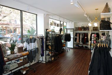 This filled to the gills women's clothing shop offers casual wear to lingerie to evening dresses. Many shops like these do not have dressing rooms for women