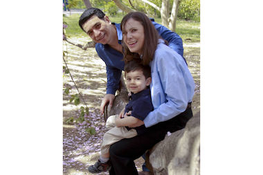 Wendy Ruther was hospitalized with a broken femur and pelvis. Her son Justin had bruising on his leg.