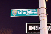 Unofficial Street Sign Honoring Slain Officers Coming Down After Complaints