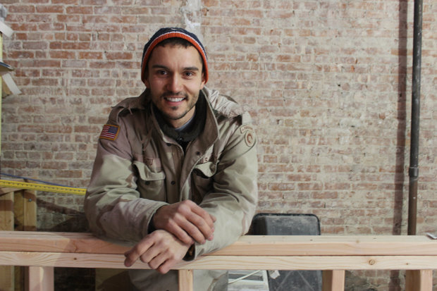 The army veteran is building his own bar on 138th Street and Adam Clayton Powell Jr. Boulevard.