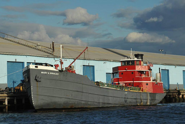 The Mary A. Whalen, a historic tanker and base for nonprofit PortSide NewYork.