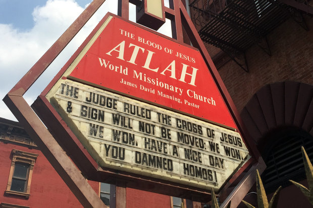 Harlem Church Taunts 'Damned Homos' After Judge's Ruling on Anti-Gay Sign