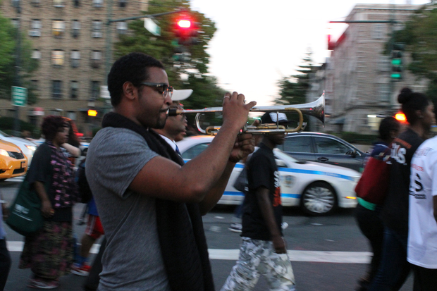 Brooklyn residents and community leaders held a vigil and march in Crown Heights Sept. 17, 2015 for Gov. Andrew Cuomo staffer Carey Gabay, who died on Wednesday after being shot before the West Indian Day Parade.
