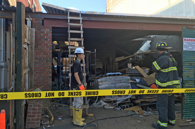 Building Collapse In Astoria Injures Construction Worker
