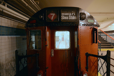 video check out these old multicolored subway cars lower east side new york dnainfo. Black Bedroom Furniture Sets. Home Design Ideas