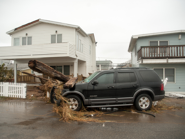 <p>Storm damage in Breezy Point on Tuesday Oct. 30, 2012.</p>