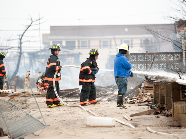 <p>Many houses were destroyed or heavily damaged along Stehn Promenade, including more than 100 that burnt to the ground. Photos taken Tuesday October 30th, 2012.</p>