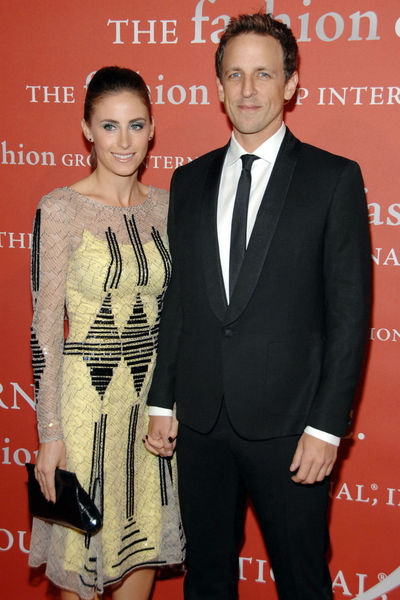 <p>Alexi Ashe and Seth Meyers at the Fashion Group&#39;s Night of Stars Gala at Cipriani Wall Street, Thursday, October 25, 2012.</p>