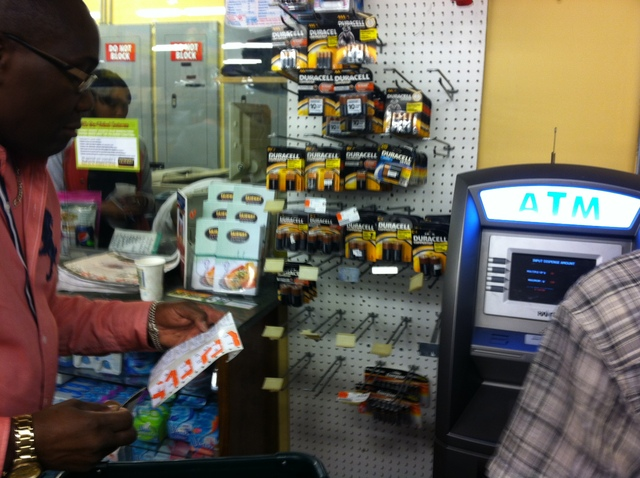 <p>Customers were going through batteries at the Fairway in Brooklyn, on October 27, 2012.</p>