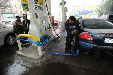 The nor'easter that hit New York on Nov. 7 has set back the schedule of gasoline supply.