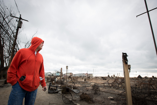 <p>More than 80 houses burnt down in Breezy Point during the aftermath of Hurricane Sandy, Oct. 31, 2012.</p>