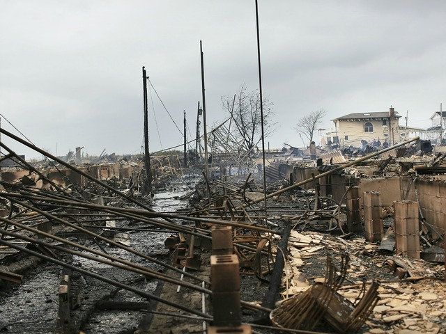<p>More than 80 homes in Breezy Point were destroyed by a blaze brought on by Hurricane Sandy on Oct. 30, 2012.</p>