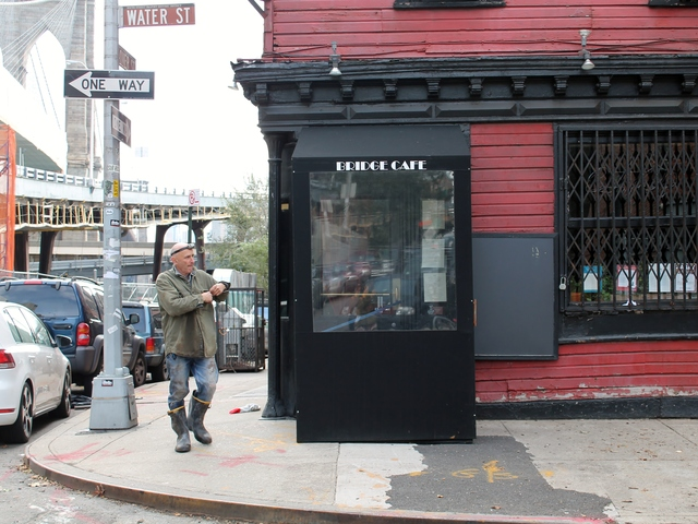<p>The Bridge Cafe, a historic restaurant on Water Street, suffered flood damage during Hurricane Sandy.</p>