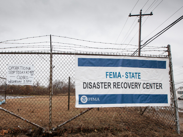 <p>A closed FEMA Disaster Recovery Center in Fort Tilden on Nov. 7th, 2012.</p>