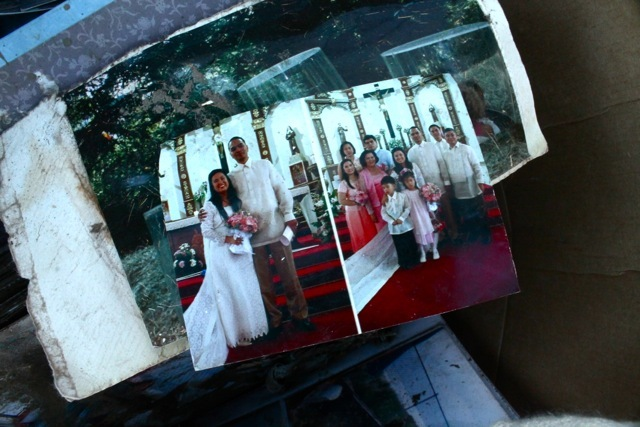 <p>November 6, 2012 - Wedding photographs were among the family moments found all over the devastation of Sea Gate after Hurricane Sandy.</p>