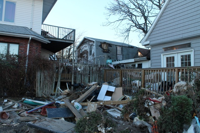 <p>November 6, 2012 -Houses were devastated in Sea Gate, Coney Island.</p>