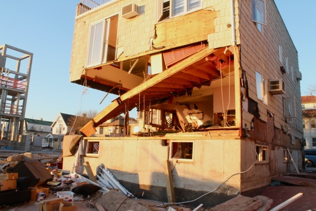 <p>November 6, 2012 - A house was gutted after the storm in Sea Gate.</p>