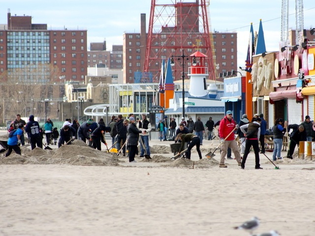 <p>Recovery efforts in Coney Island after Hurricane Sandy.</p>