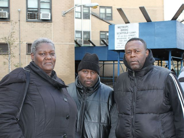 <p>Deidre King, left, and Kerry King, right, said they saw a family in Coney Island trapped in their car during the storm.</p>
