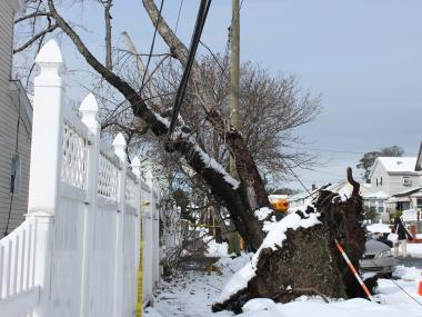 The storm, compounded by Hurricane Sandy, has left some 23,000 people without power in the borough.