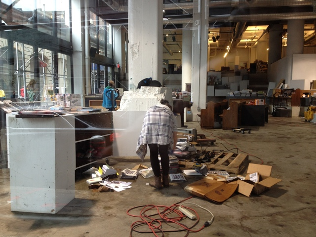 <p>October 30, 2012 - PowerHouse Books was hit hard by Hurricane Sandy.</p>