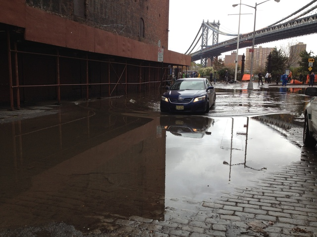 <p>Main Street was flooded by Hurricane Sandy Oct. 30.</p>