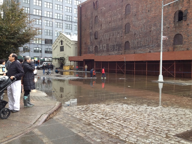 <p>October 30, 2012 - Main Street flooding in DUMBO.</p>