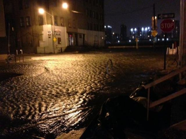 <p>October 30, 2012 - DUMBO underwater during Sandy.</p>