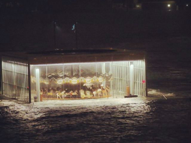 <p>October 30, 2012 -Jane&#39;s Carousel was flooded Monday night.</p>