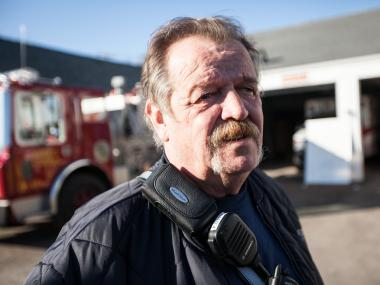 The Rockaway Point Volunteer Fire Department struggles to provide relief to local residents in the Rockaways after Hurricane Sandy hit New York last week.