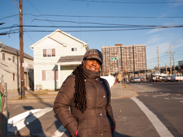 <p>Far Rockaway resident Lorrie Collins returned to her neighborhood only to vote in the Presidential election on Tuesday Nov. 6, 2012. Lorrie and her son had heeded the evacuation orders prior to Hurricane Sandy.</p>
