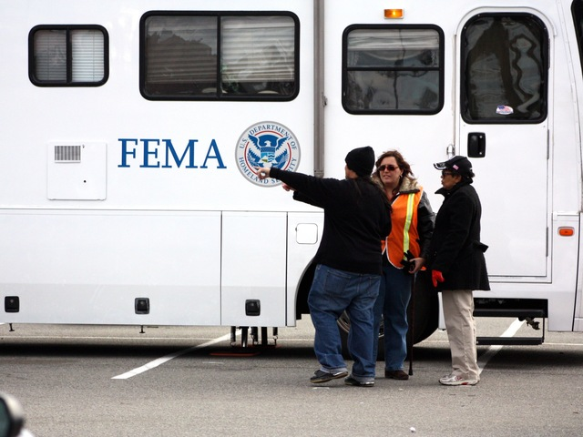 <p>FEMA helped with the recovery in Coney Island after Hurricane Sandy.</p>