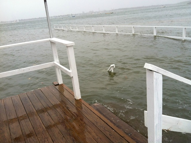 <p>Floud waters covered City Island on Monday October 29, 2012.&nbsp;</p>