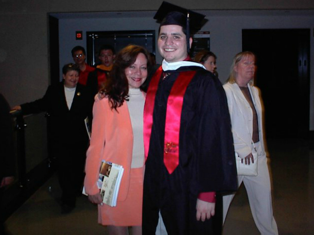 <p>Gilberto Valle poses with his mother, Elizabeth.</p>