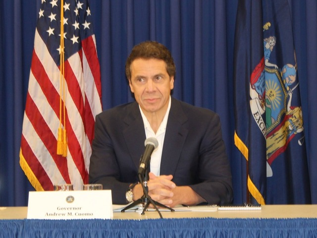 <p>Governor Cuomo briefed the press in lower Manhattan in advance of Hurricane Sandy&#39;s arrival on Oct. 29, 2012.&nbsp;</p>