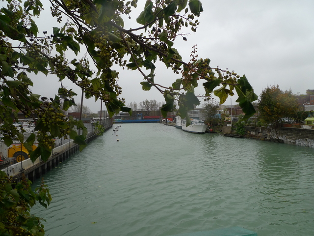 <p>Water levels in the Gowanus Canal rose on Oct. 29, 2012, as Hurricane Sandy took aim at New York City.</p>