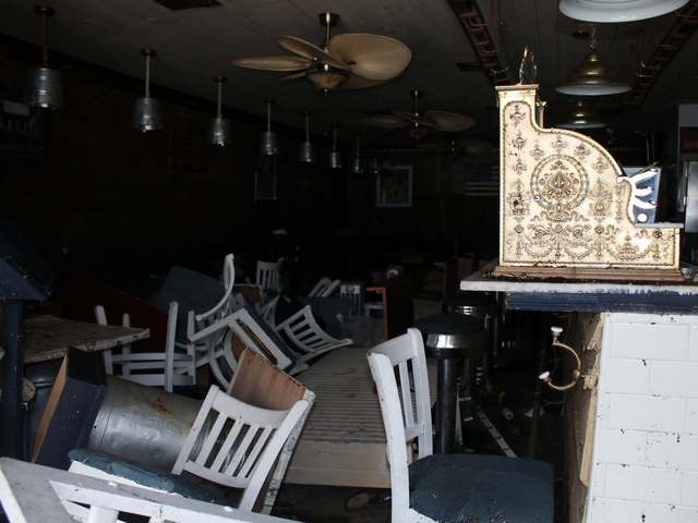 <p>Damage caused by Hurricane Sandy at Grandma&#39;s House, a restaurant on Peck Slip in the South Street Seaport. The eatery, which just opened three months ago, suffered extensive flooding during the storm.</p>