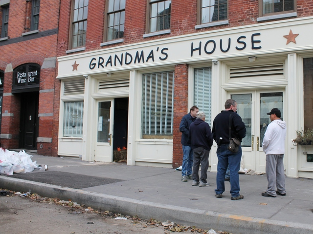<p>Grandma&#39;s House, a restaurant on Peck Slip in the South Street Seaport. The eatery, which just opened three months ago, suffered extensive damage from floods during Hurricane Sandy.</p>