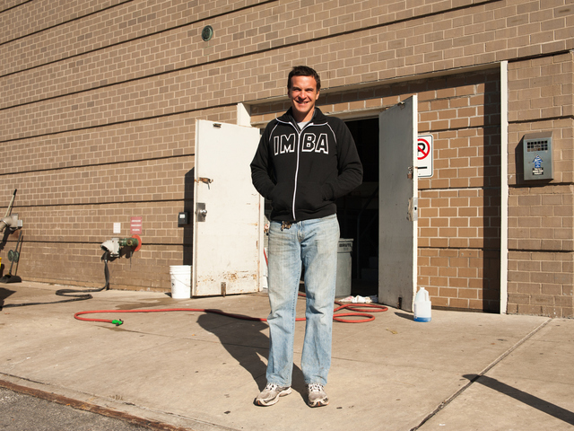 <p>Michael Russo, Manager for Russo&#39;s On The Bay on Cross Bay Boulevard, stands outside the establishment on Tuesday November 06th, 2012. Michael said they were ready to reopen once power was restored.</p>