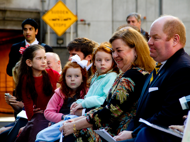 <p>Members of the Carey family attend the ceremony&nbsp;for the late Hugh L. Carey Oct. 22, 2012 to rename the Brooklyn-Battery Tunnel after the former&nbsp;Gov. Hugh L. Carey.</p>