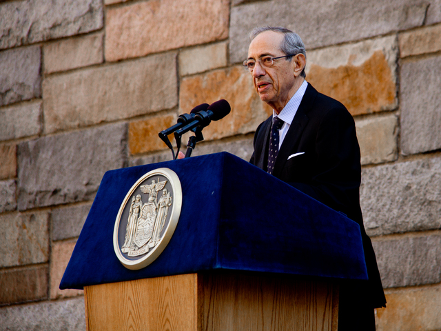 <p>Former&nbsp;Gov. Mario Cuomo speaks Oct. 22, 2012&nbsp;at the ceremony to rename the Brooklyn-Battery Tunnel after the former&nbsp;Gov. Hugh L. Carey.&nbsp;</p>