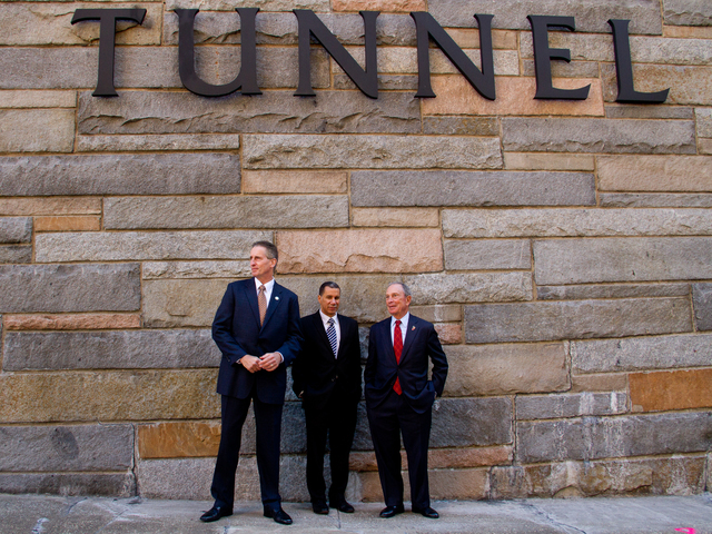 <p>New York politicians and members of the Carey family gathered Oct. 22, 2012 for the ceremony to rename the Brooklyn-Battery Tunnel after former&nbsp;Gov. Hugh L. Carey. &nbsp;</p>