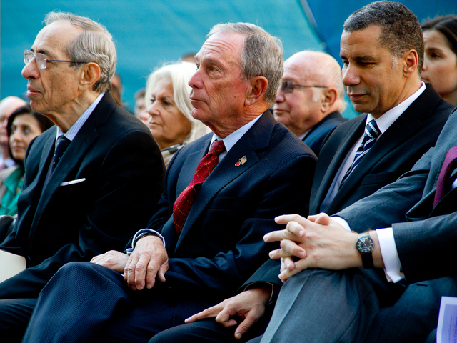 <p>Mario Cuomo, Mayor Michael Bloomberg and David A. Patterson attend the Oct. 22, 2012 &nbsp;ceremony to rename the Brooklyn-Battery Tunnel after former&nbsp;Gov. Hugh L. Carey. &nbsp;</p>