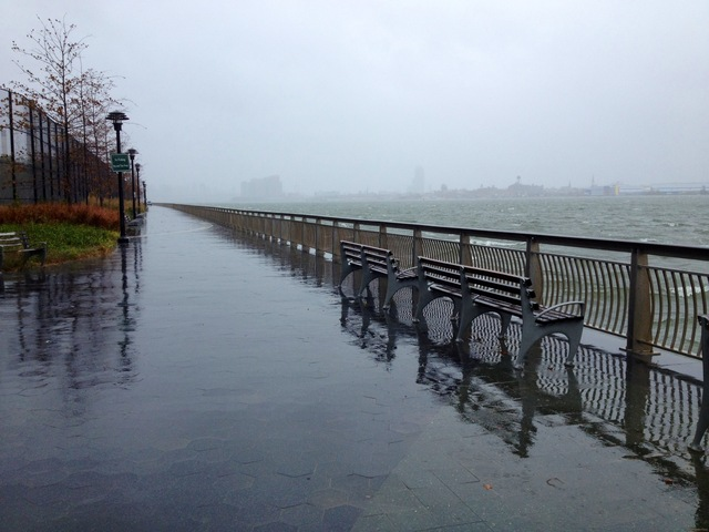 <p>Flooding along the East River waterfront on the Lower East Side&nbsp;as Hurricane Sandy barreled toward New York on Monday, Oct. 29, 2012.</p>