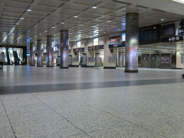 <p>Penn Station closed early on Sunday, Oct. 28, 2012, in advance of Hurricane Sandy&#39;s arrival.</p>