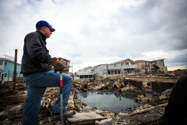 <p>Many residents of Breezy Point in The Rockaways said on October 31, 2012 that they would rebuild the properties damaged by Hurricane Sandy.</p>