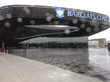 Barclay's Center is empty in downtown, Brooklyn