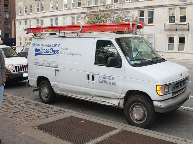 <p>Time Warner crews were also helping set up for the ING New York City Marathon at the intersection of Central Park West and 67th Street.</p>