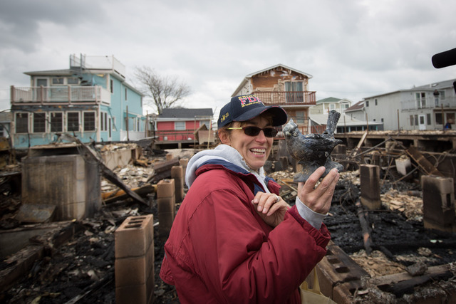 <p>Jennifer Pappas, 47, said she would rebuild her house at Breezy Point.</p>