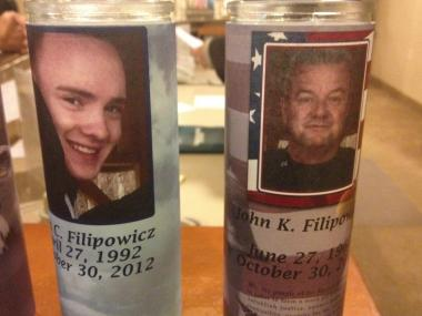 John Filipowicz Sr, 51, and his son John Jr., 20, were crushed under rubble during Superstorm Sandy